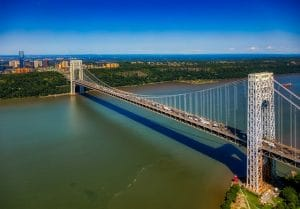 george washington bridge - living in NJ while working in NYC.