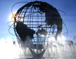 a sculpture of the Earth