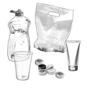 pack liquids for moving - Plastic bag, bottle, glass, tube